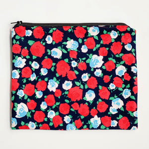 Lilla Barn Clothing Reusable Zipper Pouch with flowers on it