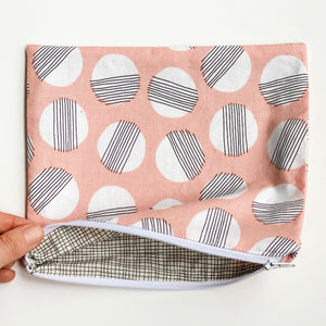 Lilla Barn Clothing Reusable fabric zipper pouch pink fully lined