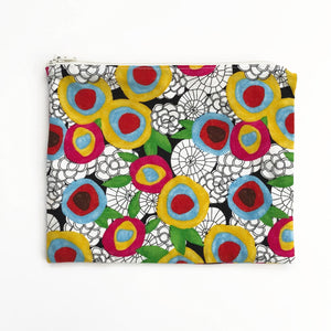 Zipper Pouch - Neon Bouquet