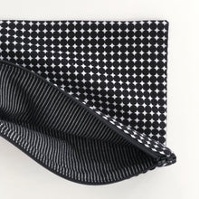 Load image into Gallery viewer, Lilla Barn Clothing Reusable Fabric Zipper Pouch Black and White fully lined