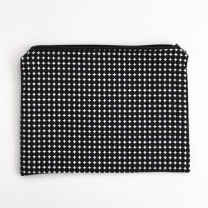 Lilla Barn Clothing Reusable Fabric Zipper Pouch Black and White