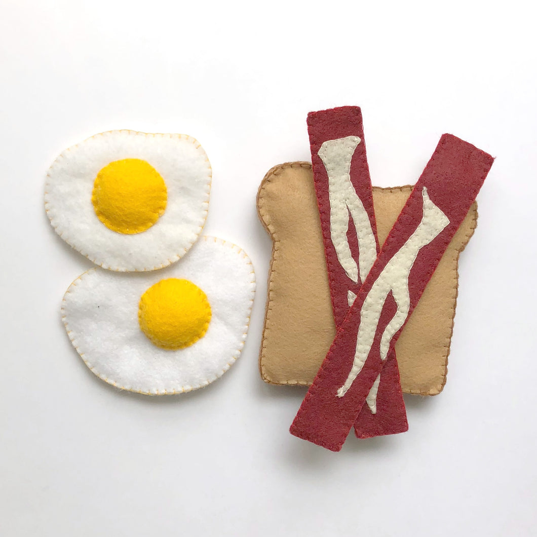 Felt Food - Bacon & Eggs