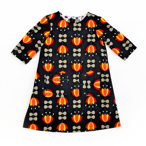 Lilla Barn Clothing Black Toddler Dress 3T with pockets