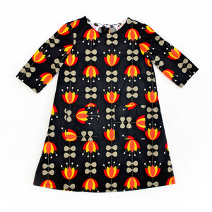 Toddler Dress - Scandi Flowers 3T