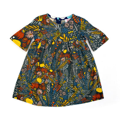 Lilla Barn Clothing Blue Flora baby dress 12-18 months