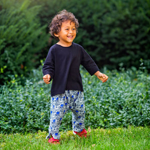 Baby & Toddler Tee - Black Dolman