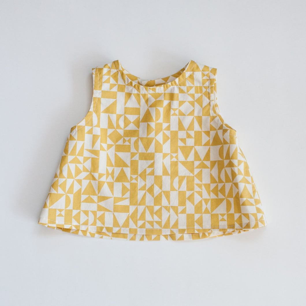 Toddler Yellow Geo Tank