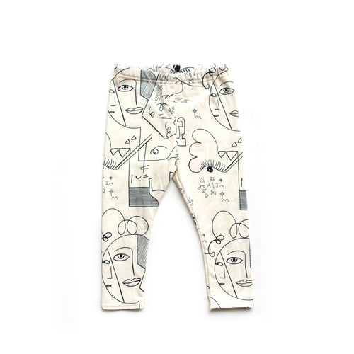 Lilla Barn Clothing | Gender Neutral baby & kid leggings | cream art