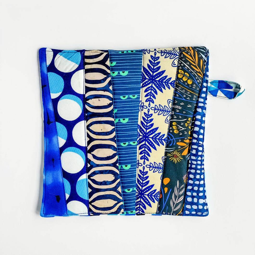 Pot Holder - Azure
