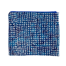 Load image into Gallery viewer, Lilla Barn Clothing | Reusable Fabric Zipper Pouch | Blue Check