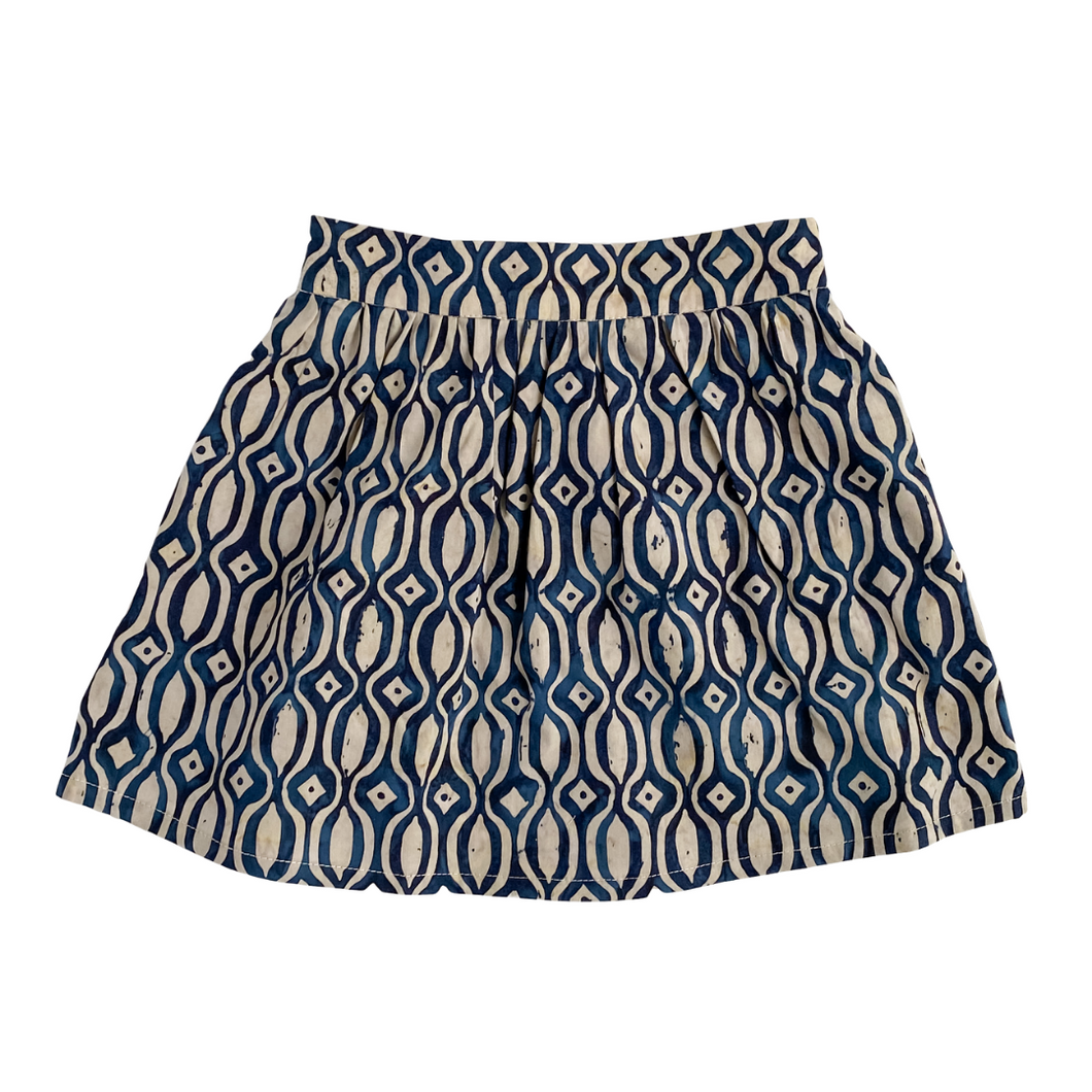 Lilla Barn Clothing 2T toddler skirt in cream and blue