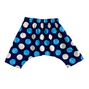 Lilla Barn Clothing gender neutral blue polka dot baby pants