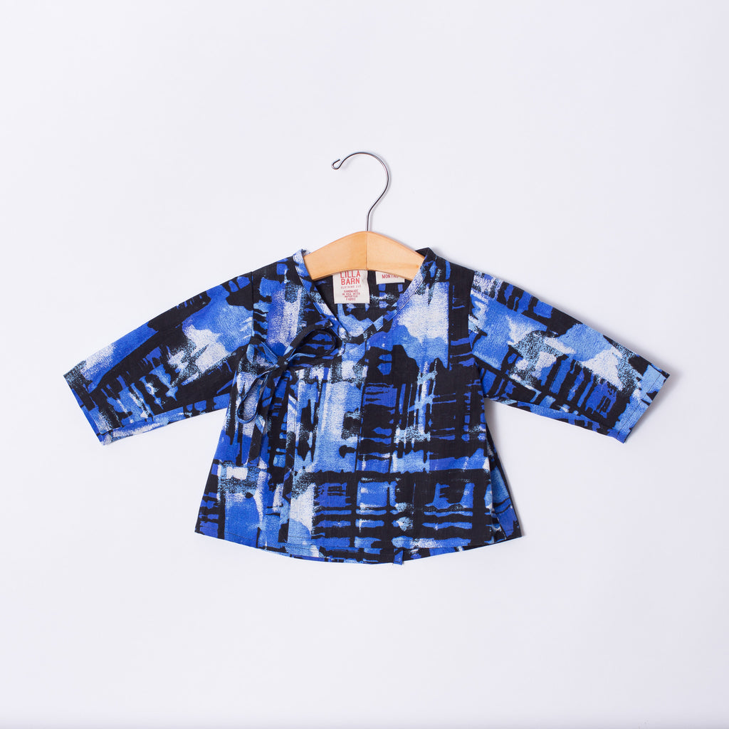 Infant Wrap Top - Blues