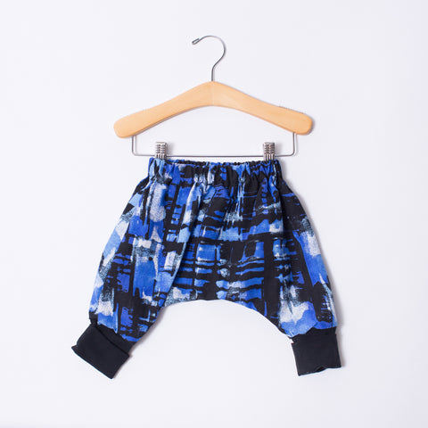 Infant Ninja Pants - Blues with Cuff