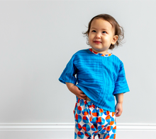 Load image into Gallery viewer, Baby Dolman Top - Sea of Blue