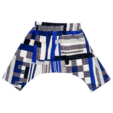PRE-ORDER Baby & Toddler Ninja Pants - Blue Grid