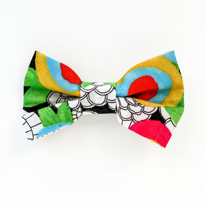 Medium Bow Clip - Neon Floral