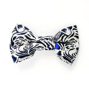 Medium Bow Clip - Blue Tiger