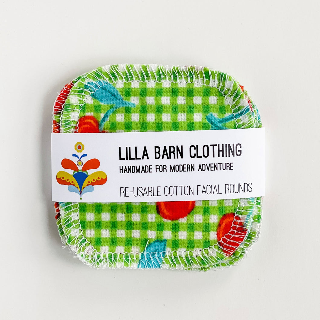 Lilla Barn Clothing Sustainable Re-usable Cotton Facial Rounds