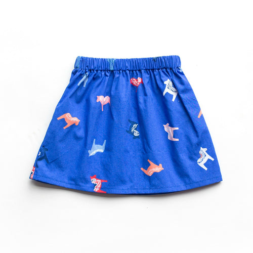 Lilla Barn Clothing Blue Baby Skirt Swedish Dala Horse
