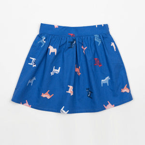 Toddler Skirt - Dala Horse