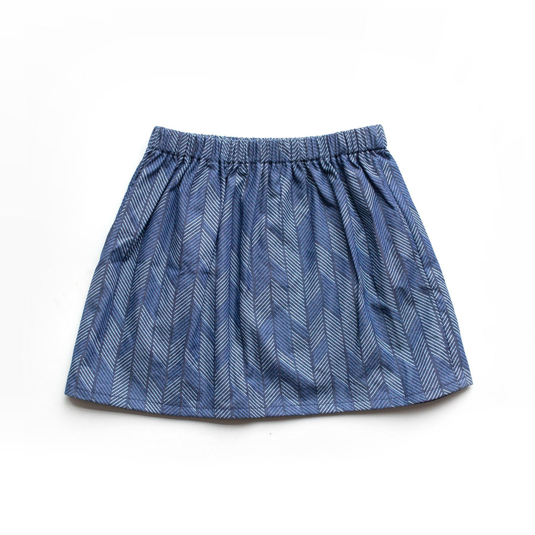 Baby Skirt - Denim Arrows