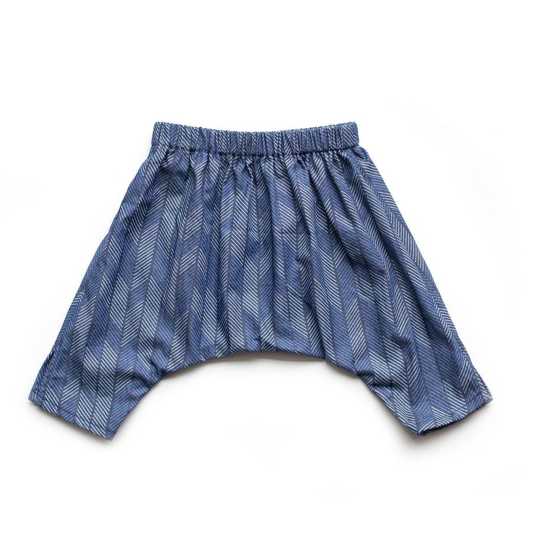 Baby Ninja Pants - Denim Arrows