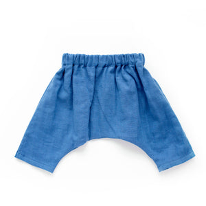 Baby Ninja Pants - Blue Double Gauze
