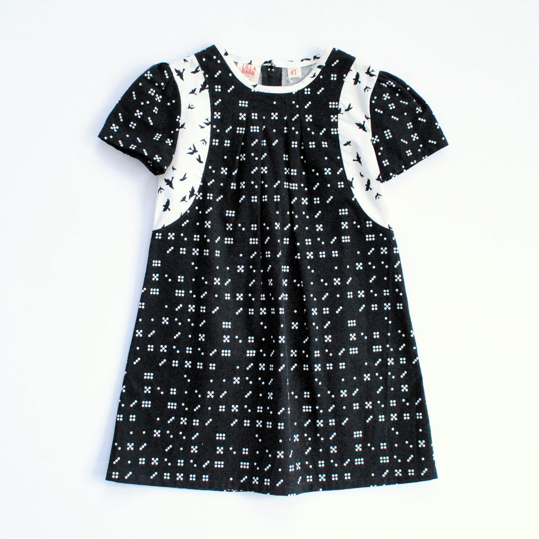 Toddler Dress - Dominos - 4T