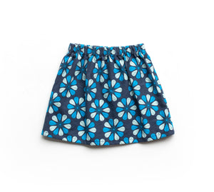 Lilla Barn Clothing Blue baby skirt swedish kurbits