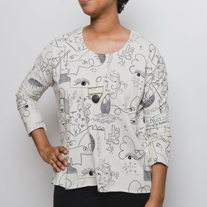 Lilla Barn Clothing Women's Dolman Art Top