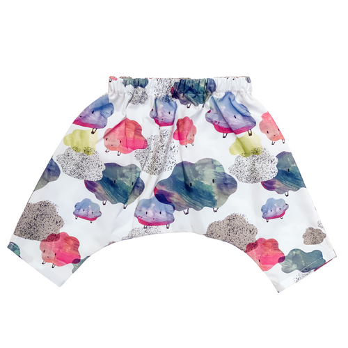 Baby & Toddler Play Pants - Happy Clouds