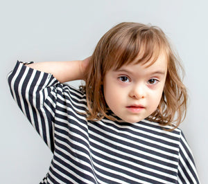 Lilla Barn Clothing| Gender neutral baby tee| Black and white stripes 3T