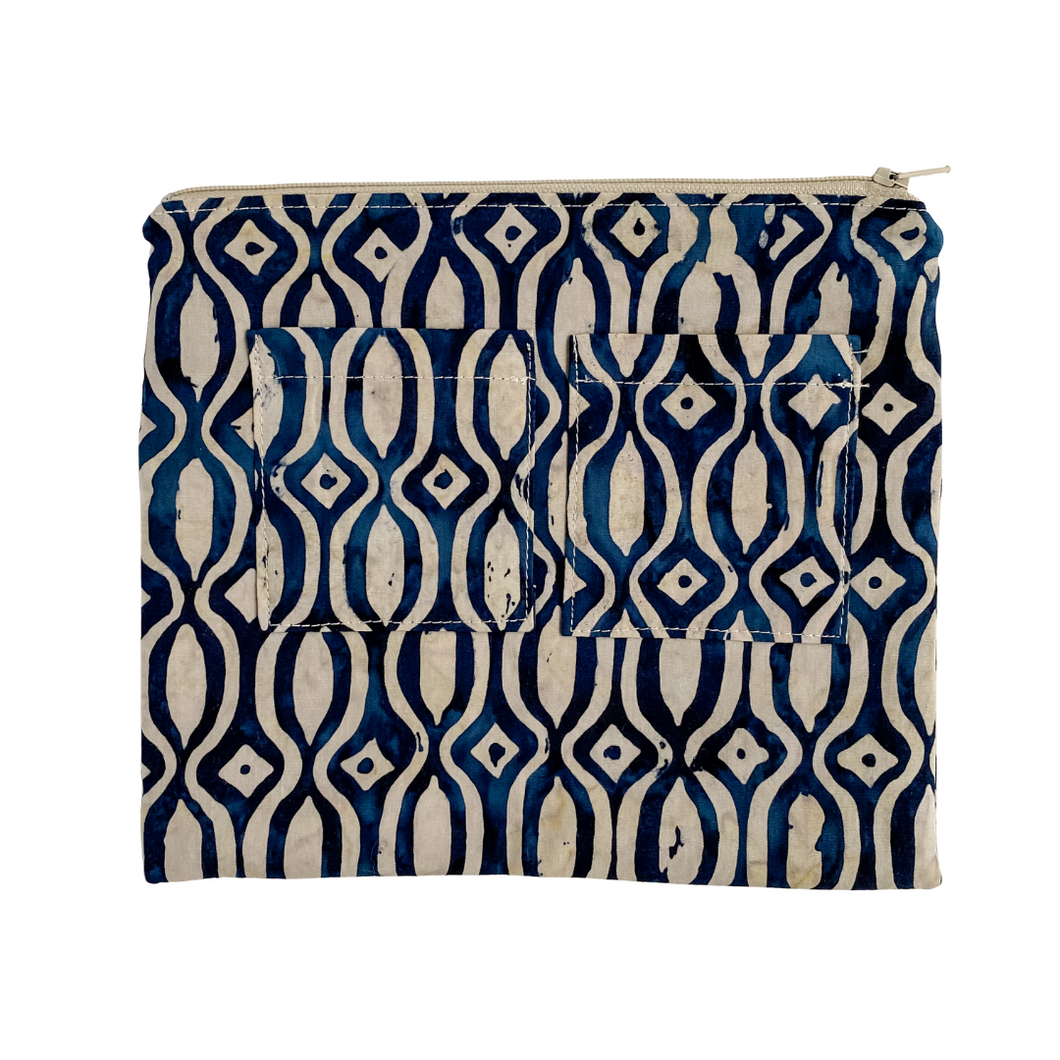 Lilla Barn Clothing | Reusable Fabric Zipper Pouch | Blue