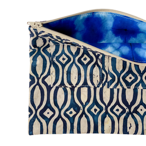 Lilla Barn Clothing | Reusable Fabric Zipper Pouch | Blue | Fully lined