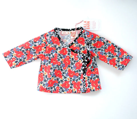 Infant Wrap Top - Red Floral