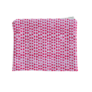 Zipper Pouch - Red Triangle
