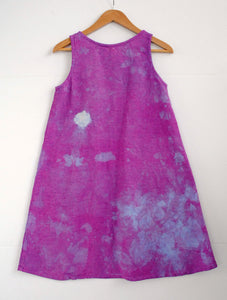 Grown-up - Purple Hand-dyed Dress