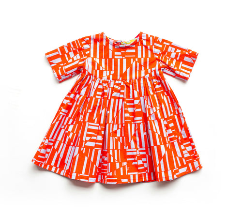 Baby Dress - Firecracker