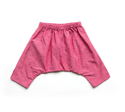 Baby Ninja Pants - Red Denim