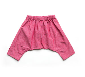 Lilla Barn Clothing gender neutral red denim baby ninja pants