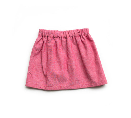 Baby Skirt - Red Denim