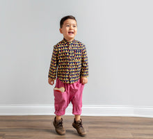Load image into Gallery viewer, Lilla Barn Clothing Gender Neutral Red Denim Toddler Ninja Pants