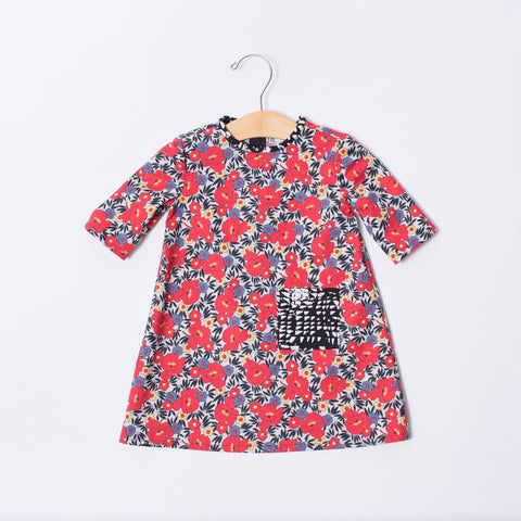 Toddler Dress - Red Floral