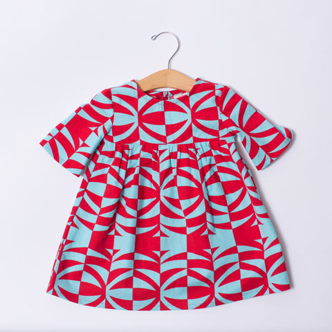 Infant & Toddler Dress - Red Tiki