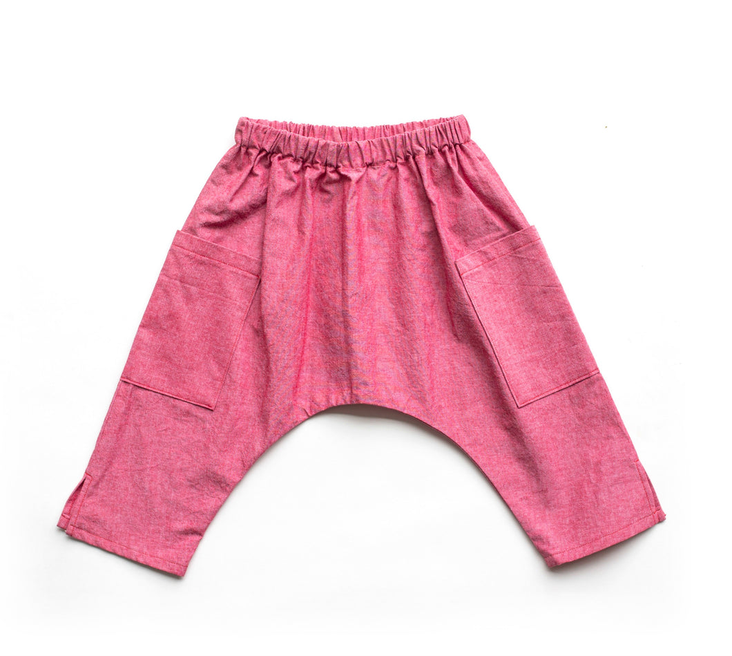 Toddler Ninja Pants - Red Denim