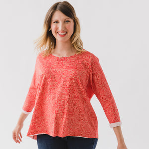 Lilla Barn Clothing Women's Red Dolman Top