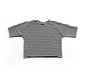 Lilla Barn Clothing| Gender neutral baby tee| Black and white stripes