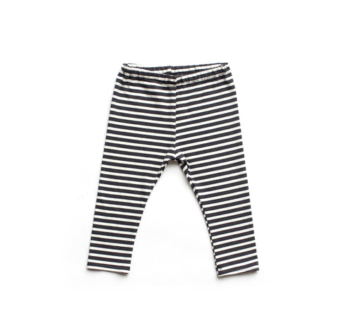Lilla Barn Clothing Black & White Stripe Gender Neutral Baby & Toddler Leggings