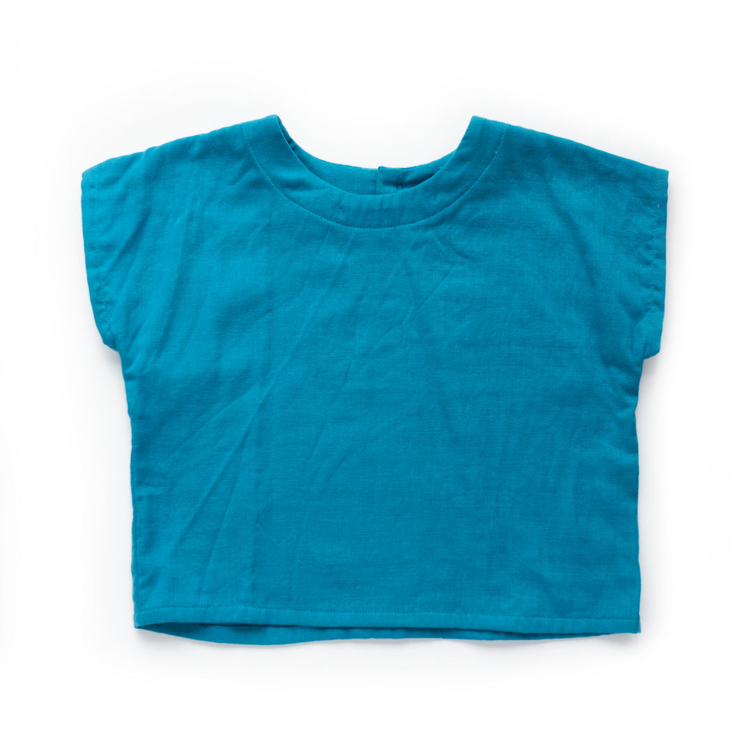 Lilla Barn Clothing Gender Neutral baby box top turquoise